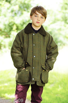 Children S Derby Tweed Quilted Field Country Jacket Coat